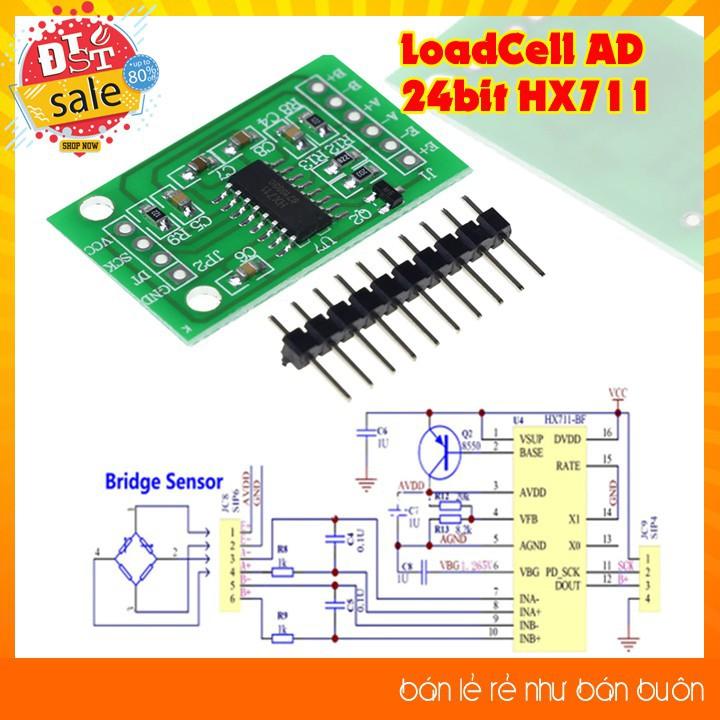 Module Chuyển Đổi LoadCell AD 24bit HX711