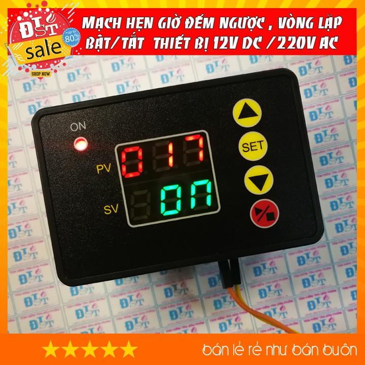 Mạch hẹn giờ đếm ngược , vòng lặp bật/tắt thiết bị 220V AC