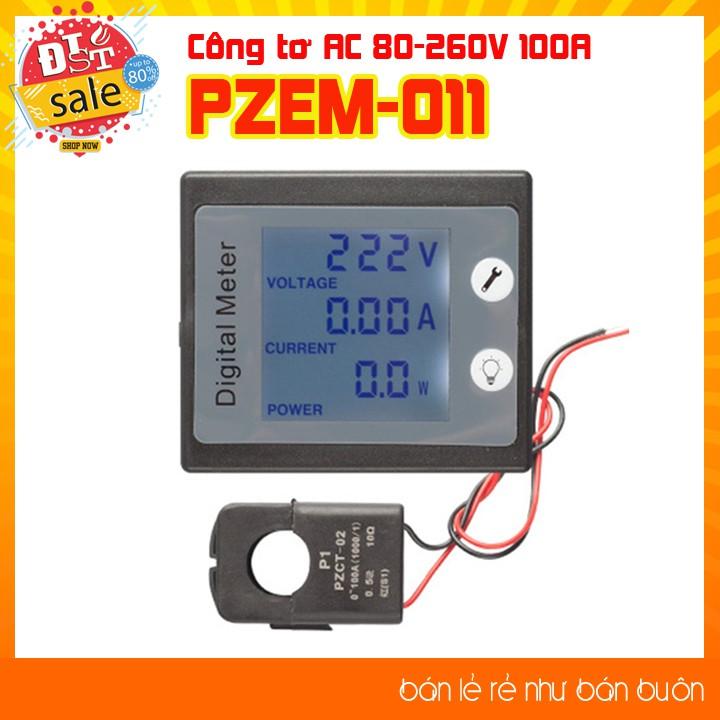 Công tơ điện tử PZEM-011 AC 80 - 260V 100A ( chưa bao gồm cuộn đo dòng)