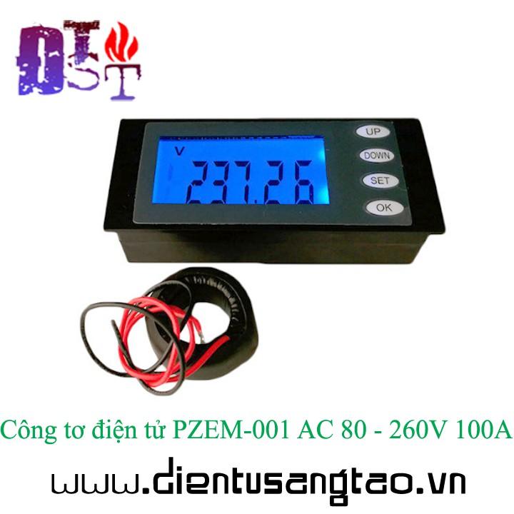 Công tơ điện tử PZEM-006 AC 80 - 260V 100A ( chưa bao gồm cuộn đo dòng)
