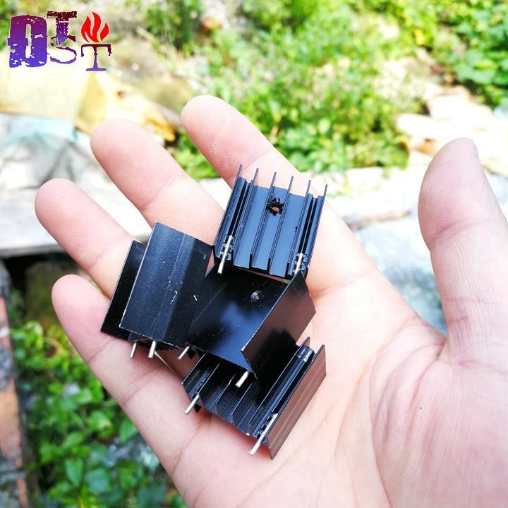 Tản nhiệt nhôm đen  IC-mosfet-transistor- kích thước 22x25x15mm