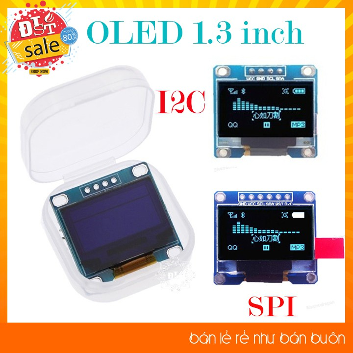 Màn hình hiển thị 128x64 Oled 1.3 Inch giao Tiếp I2C chuyên dụng